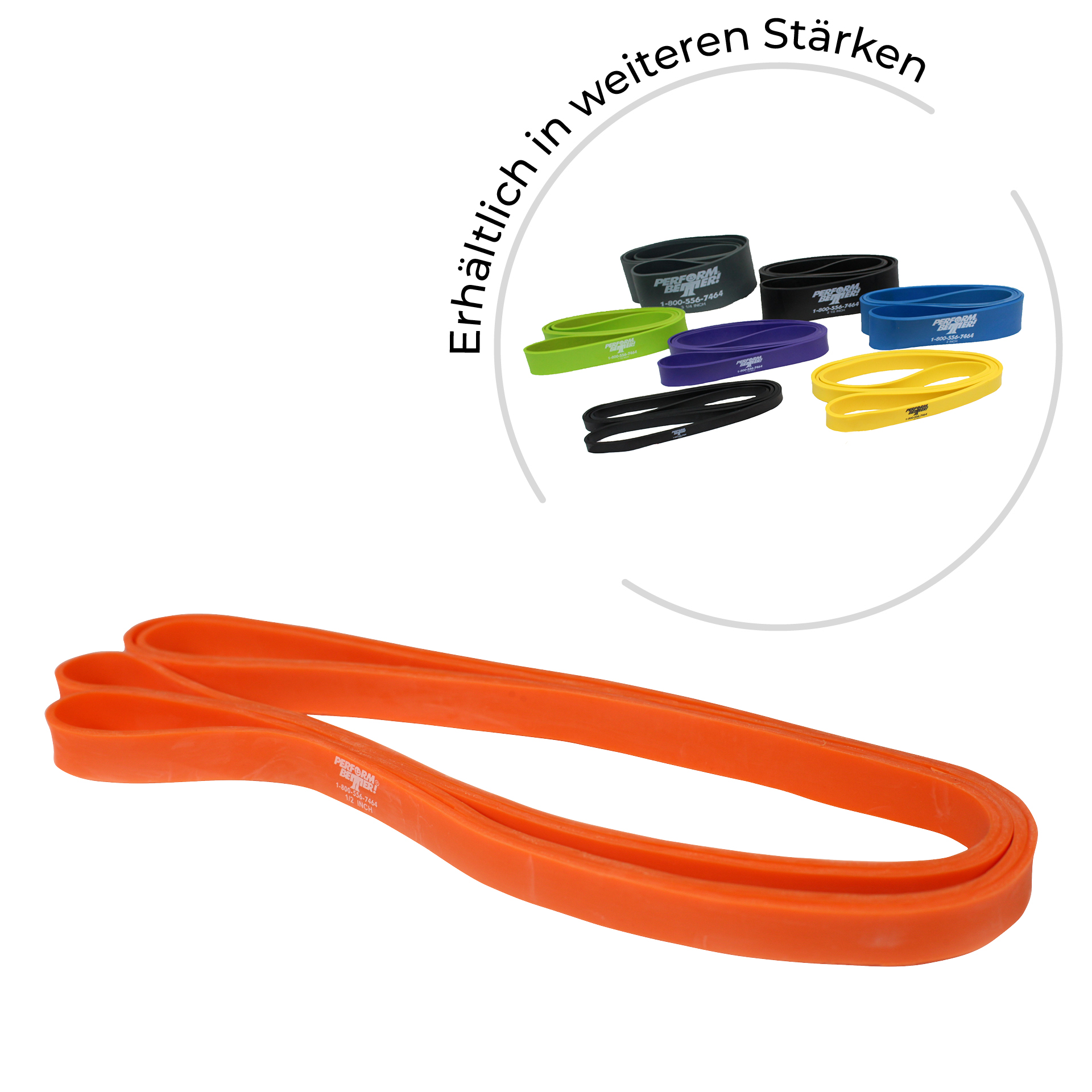 Superbands - 0,6 cm breit, 6 kg, orange 5mm dick