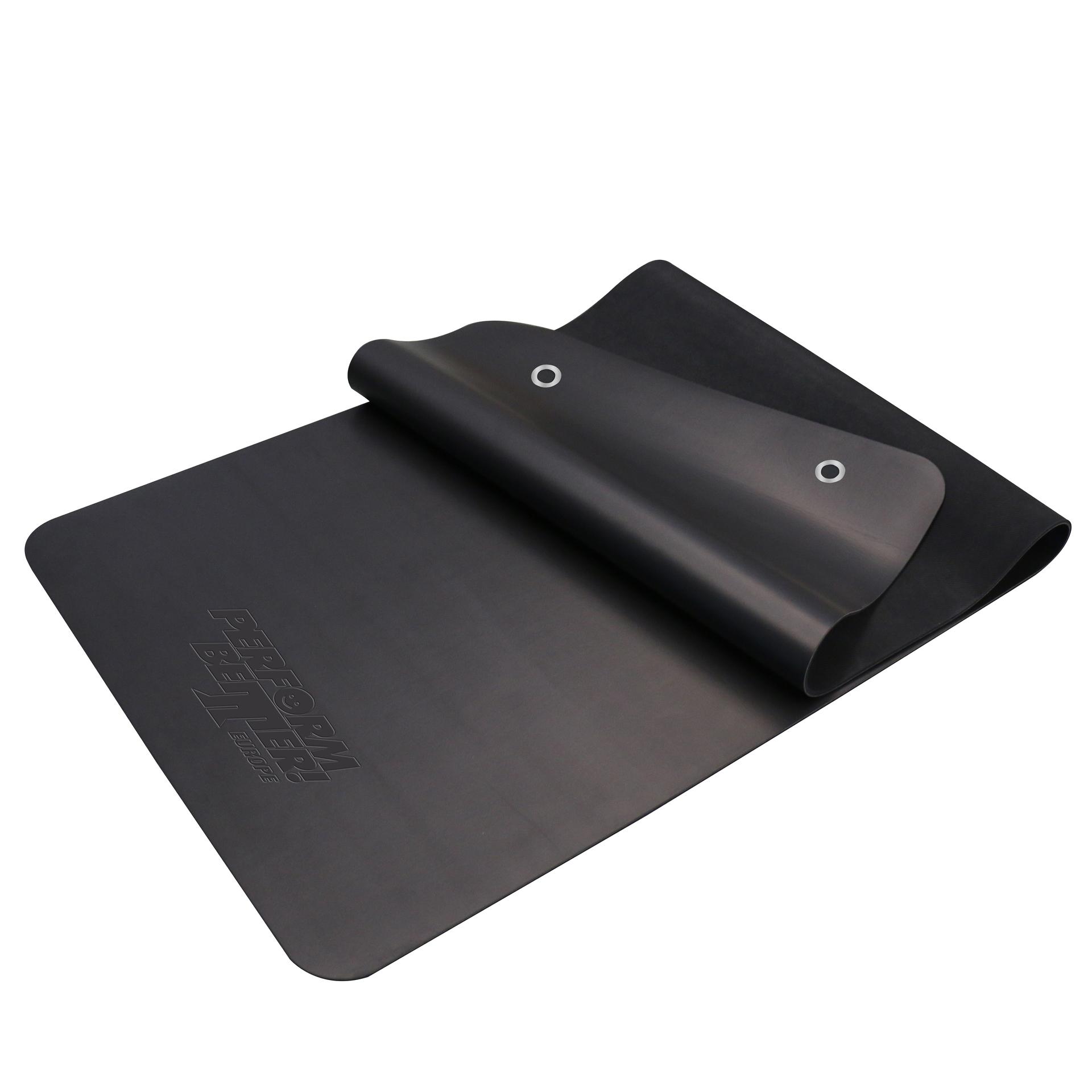 PB Fitness Mat 1.8m Black with Eyelets