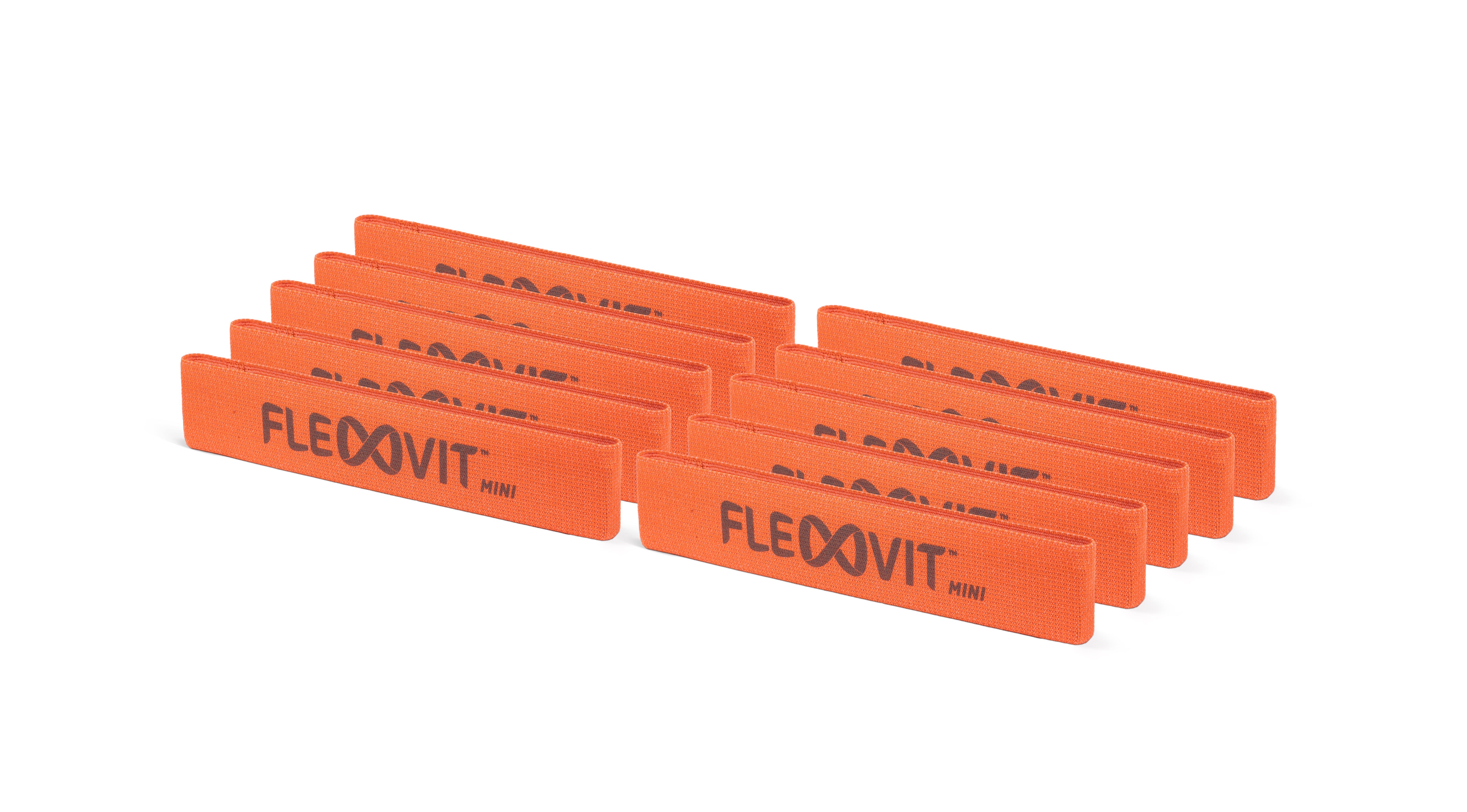 FLEXVIT Mini Band - 10er Set core orange