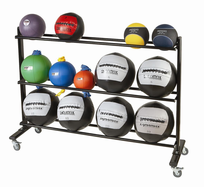 Rollbares Medizinball-Regal
