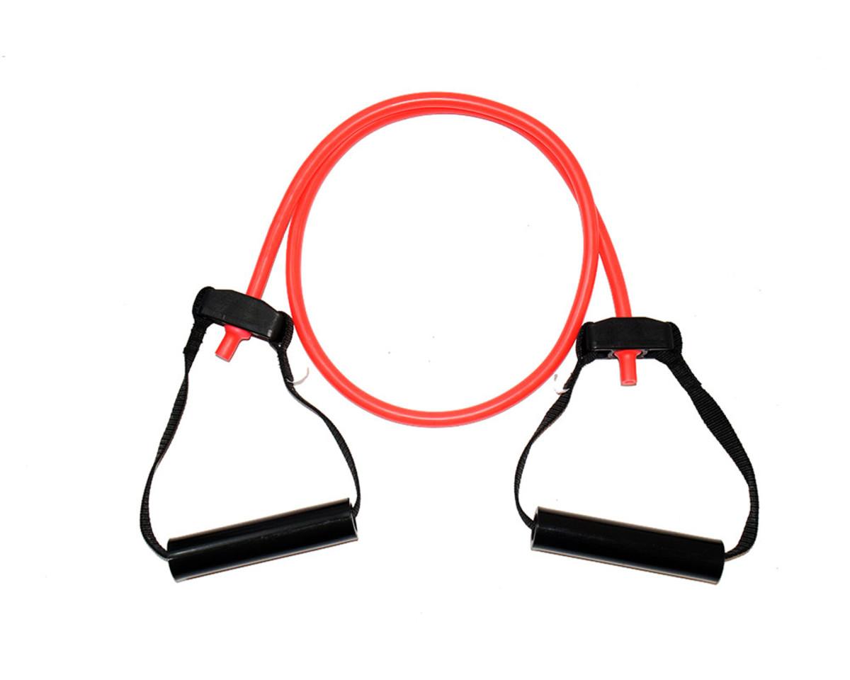 Exercise Tubes mit Griffen - Stark (Rot)