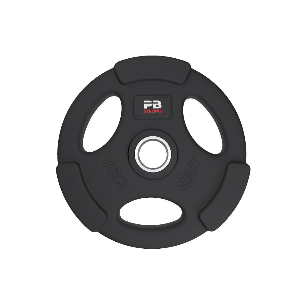 PB Strong 3-Griff Hantelscheibe gummiert Schwarz (Stk) 1,25 kg