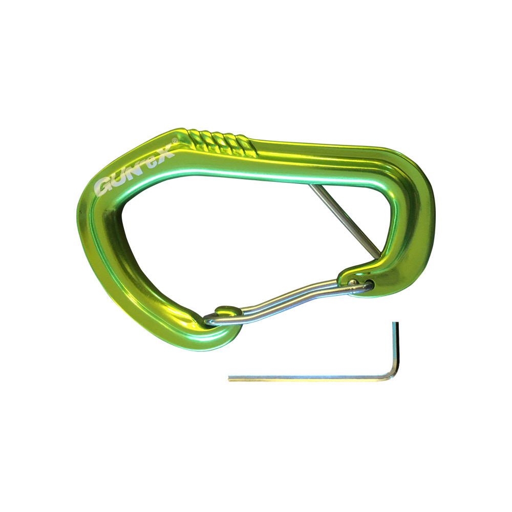 GUN-eX® Locking Wire Gala Carabiner - Grün
