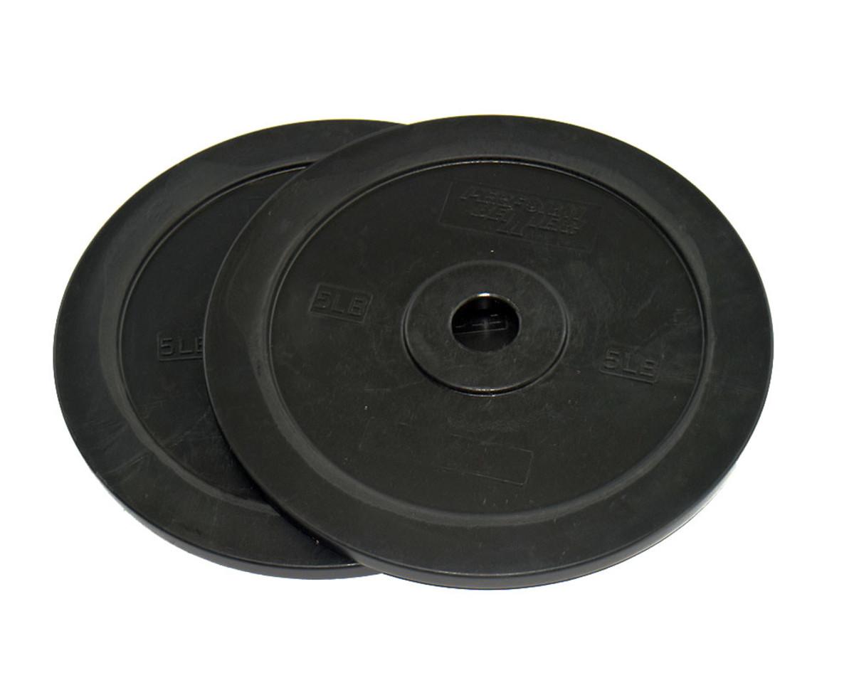 Gummi Bumper Plates - 5 kg Schwarz (Paar)