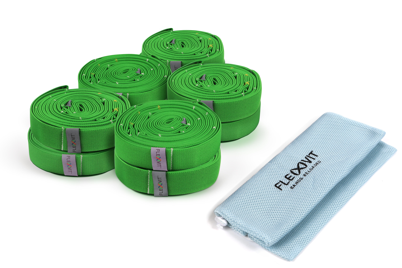 FLEXVIT Multi Band - 10er Set fitness grün