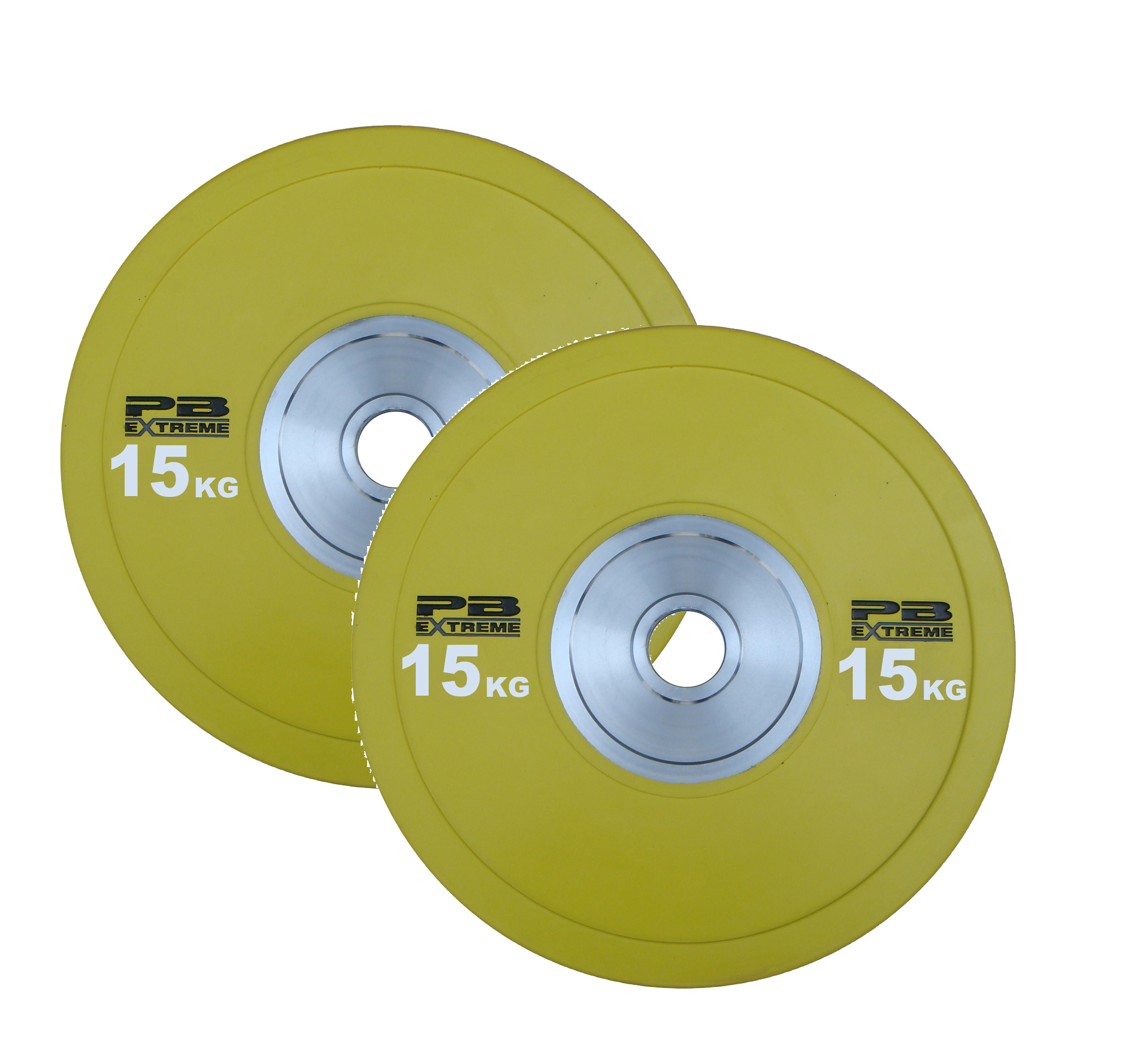PB Extreme Competition Bumper Plate - Gelb 15kg (Paar)