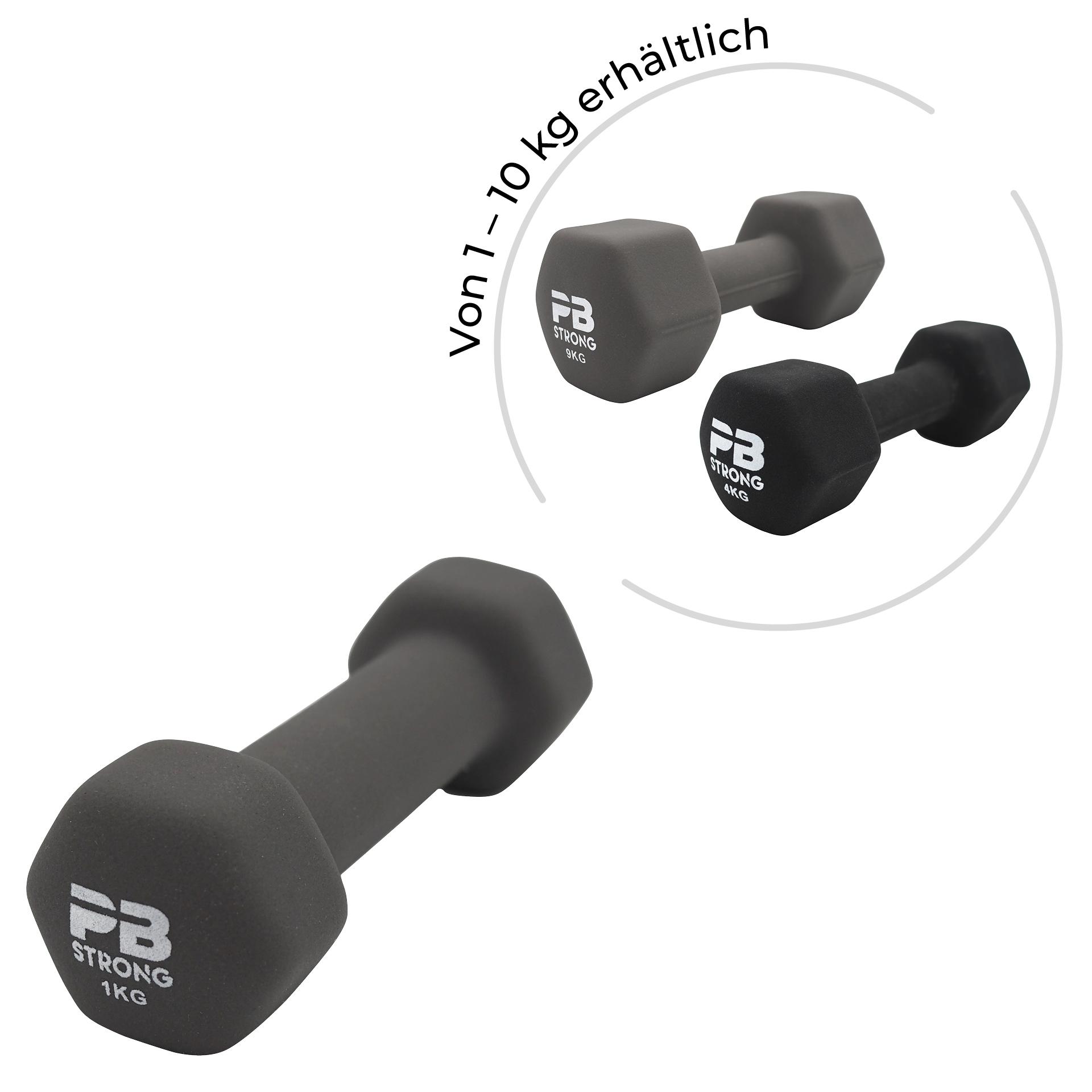 PB Strong Neopren Kurzhantel Grau (Stk) 1 kg