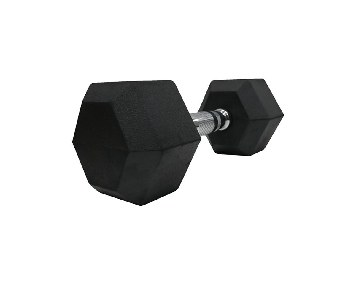 Gummierte Hex-Hanteln (lbs.) - 15 lbs/6,8kg(Stck