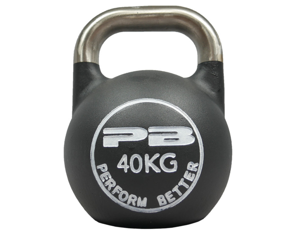First Place Competition Kettlebells - Schwarz/Weiß 40kg