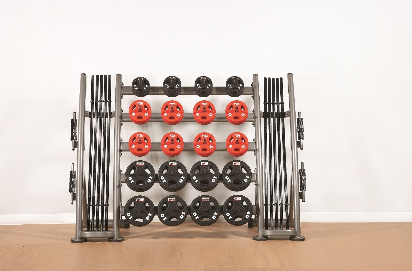 PB Extreme Urethane Set mit Rack - Extra Regal für 10kg Scheiben