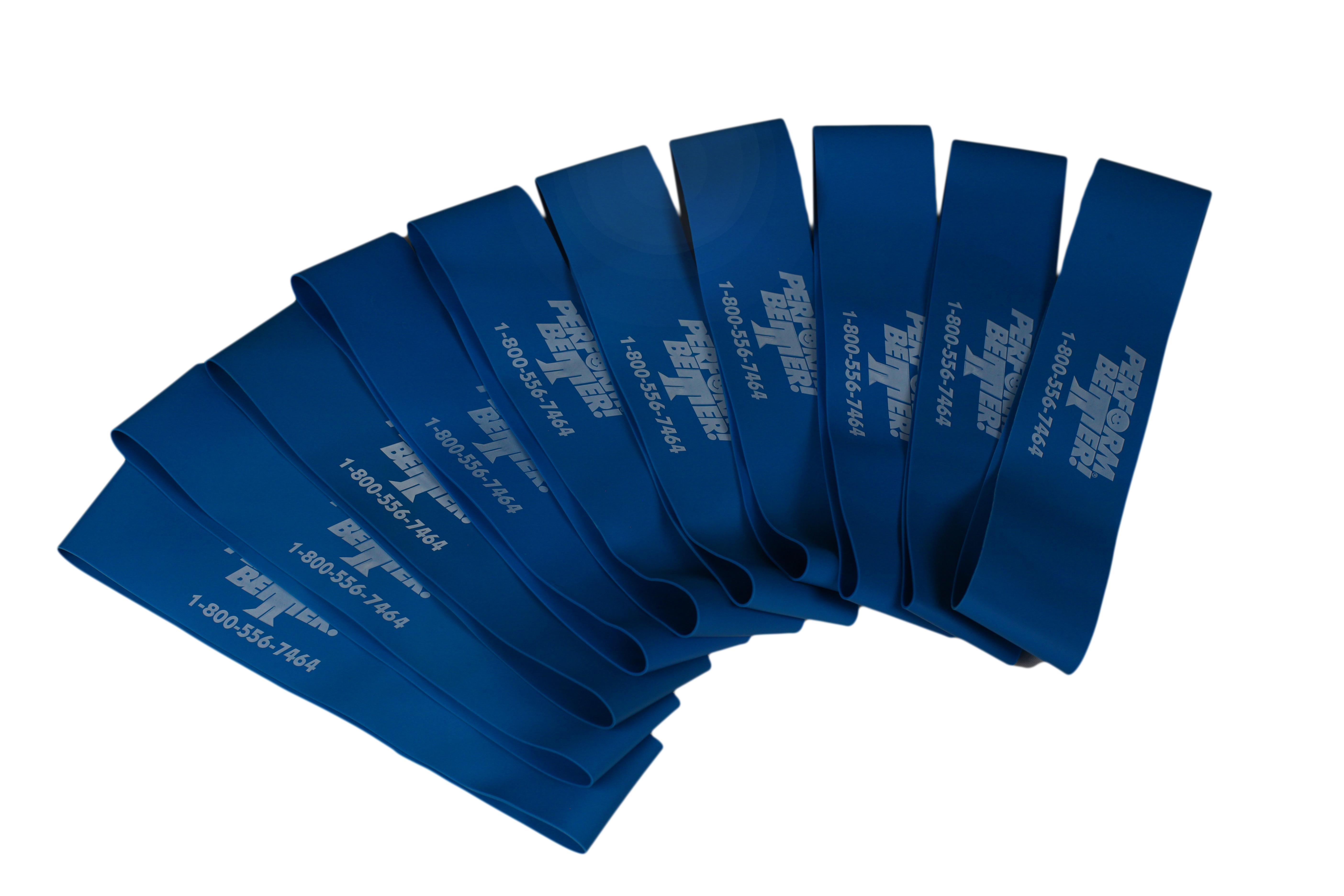 Minibands - 10 x Blau (stark)
