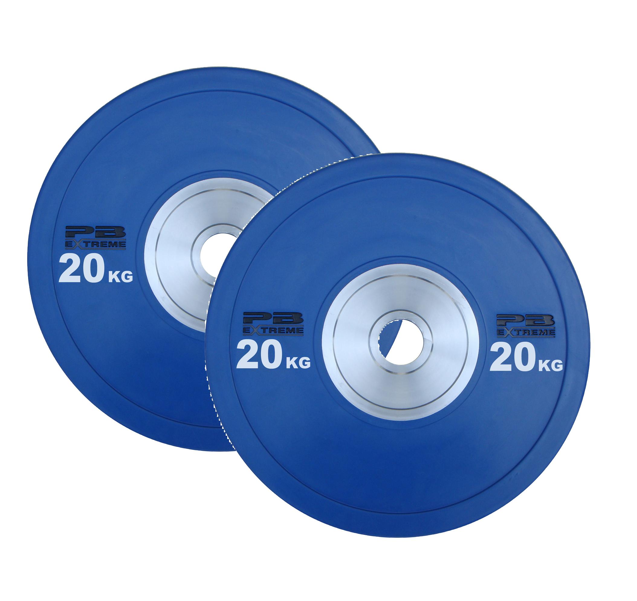 PB EXTREME™ RUBBER BUMPER PLATES - Blau 20kg (Paar)