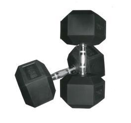 Hexhantel (gummiert) (Paar) - 32,5 kg