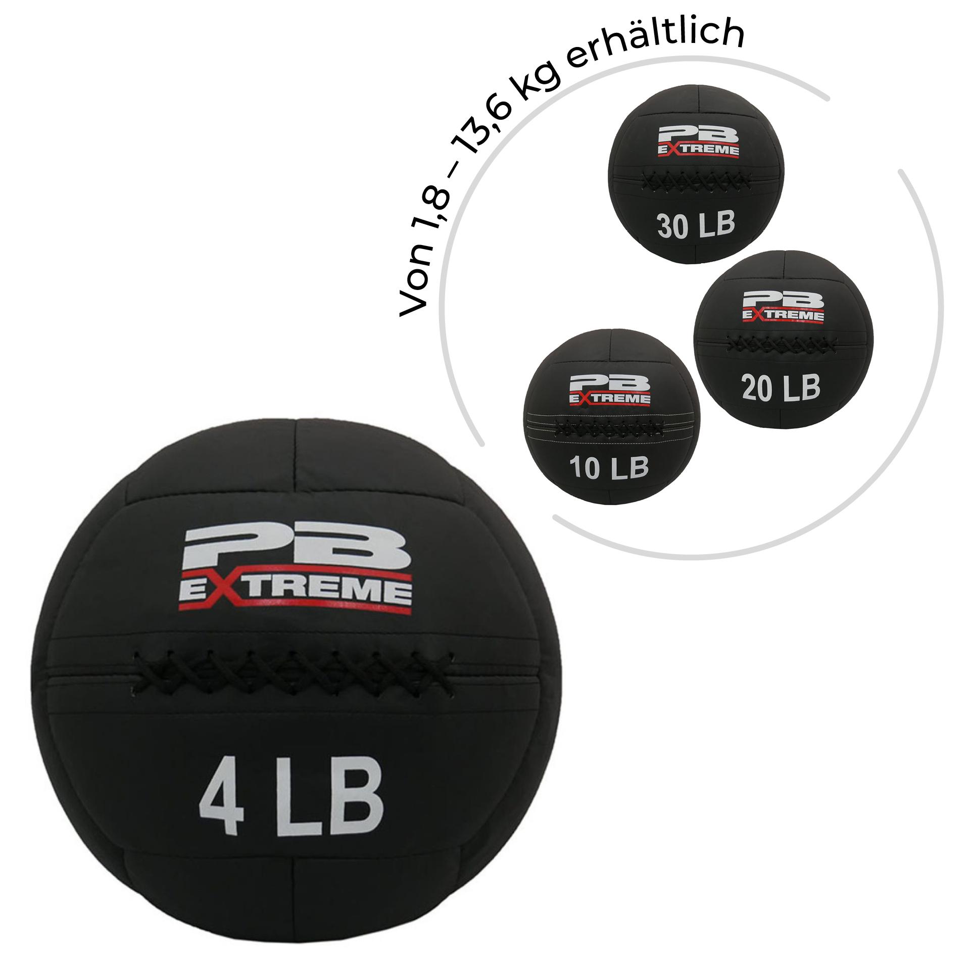 PB Extreme Soft Elite Medizinbälle - schwarz 4 lbs (1,81 kg)